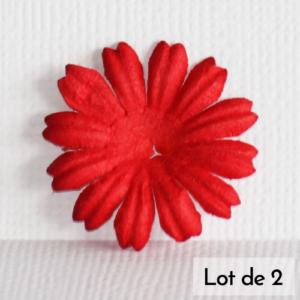 Daisy 1″ (2,5cm) – Lot de 2 – Rouge