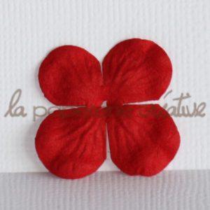 Hydrangea 1″ (2,5cm) – Lot de 2 – Rouge