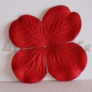 Hydrangea large 2″ (5cm) – Lot de 2 – Rouge