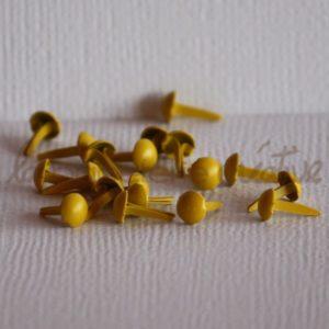 Brads mini 1/8″ (3mm) – Lot de 4 – Jaune citron