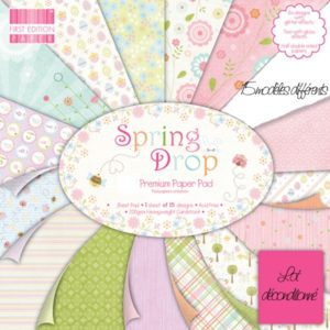"""FIRST EDITION PAPER – Collection """"SPRING DROP"""" 15 Feuilles"""