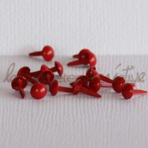 Brads mini 1/8″ (3mm) – Lot de 4 – Rouge