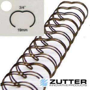 Spirale de reliure 3/4″ – 24 anneaux – Antique brass