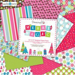 """DOVECRAFT – Collection """"MERRY MAGIC"""" 12 Feuilles"""