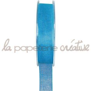Ruban organdi 7mm – 1m – Turquoise