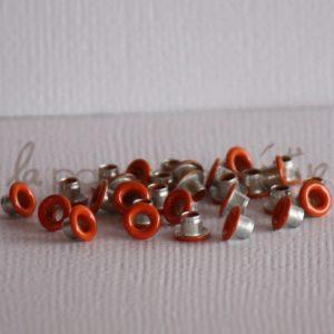 Oeillets mini 1/8″ (trou 3mm) – Lot de 4 – Citrouille