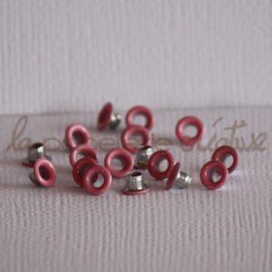 Oeillets mini 1/8″ (trou 3mm) – Lot de 4 – Rose layette