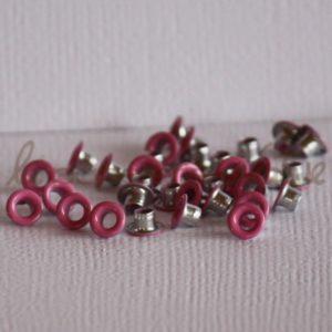 Oeillets mini 1/8″ (trou 3mm) – Lot de 4 – Rose chaud