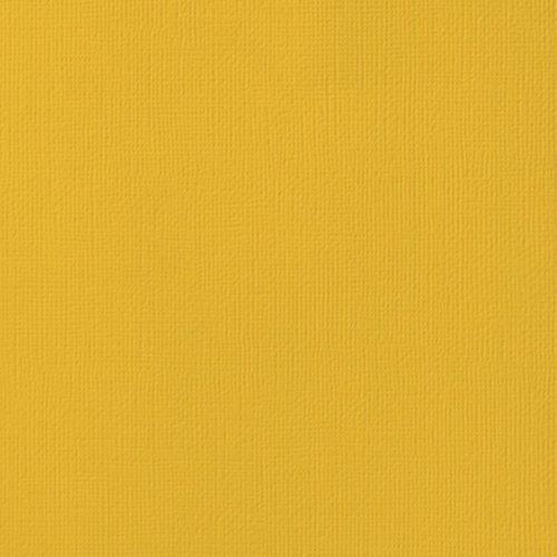 "Cardstock texturé 12x12"" - Mustard"