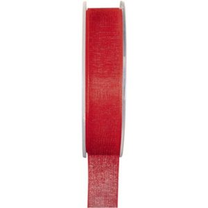 Ruban organdi 7mm – 1m – Rouge