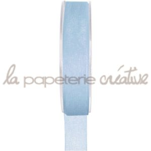 Ruban organdi 7mm – 1m – Bleu ciel