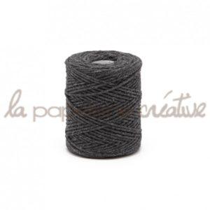 Ficelle de coton – 1m – Anthracite