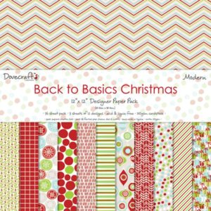 """Dovecraft – Back to Basics """"Christmas Modern"""" – 12 feuilles"""