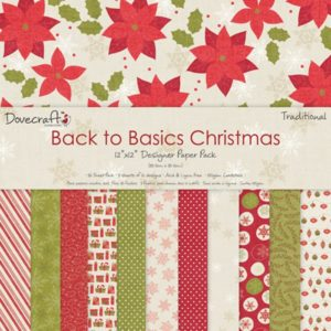 """Dovecraft – Back to Basics """"Christmas Traditional"""" – 12 feuilles"""
