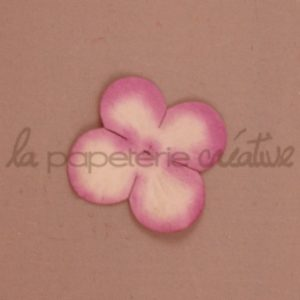 Hydrangea 1″ (2.5cm) bicolore – Lot de 2 – Blanc/Mauve