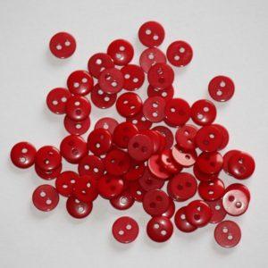 Bouton rond 0,9cm – Lot de 2 – Rouge