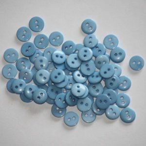 Bouton rond 0,9cm – Lot de 2 – Bleu