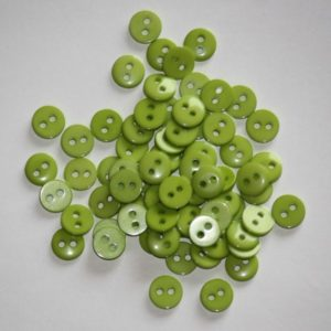 Bouton rond 0,9cm – Lot de 2 – Vert