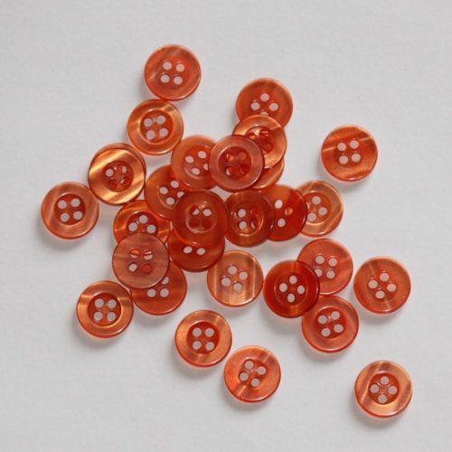 Bouton rond transparent creux 1,1cm - Lot de 2