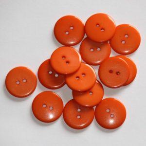 Bouton rond 2,3cm – Lot de 2 – Orange