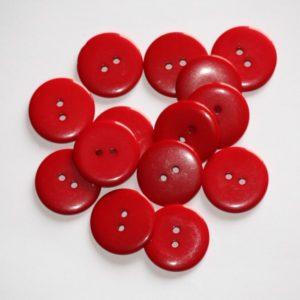 Bouton rond 2,3cm – Lot de 2 – Rouge