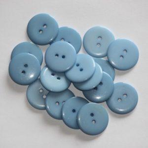 Bouton rond 2,3cm – Lot de 2 – Bleu