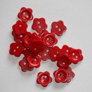 Bouton fleur 1,5 cm – Lot de 2 – Rouge