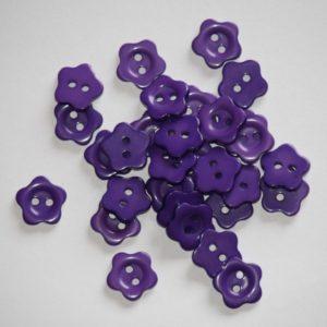 Bouton fleur 1,5 cm – Lot de 2 – Violet