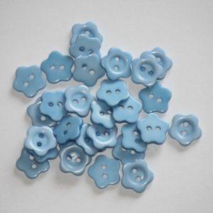 Bouton fleur 1,5 cm – Lot de 2 – Bleu