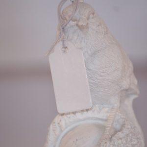 Petites étiquettes avec fil blanc – Lot de 5