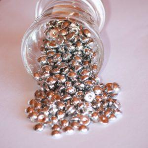 Perles de pluie 7mm – Lot de 10 – Argenté