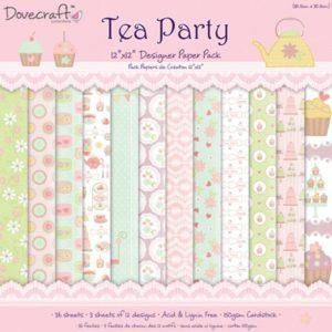 "Dovecraft – Collection ""Tea Party"" 12 feuilles"