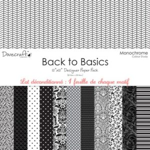 Dovecraft – Back to Basics – Monochrome 12 feuilles
