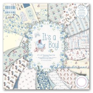 """First Edition Paper – Collection """"It's a Boy"""" 12×12″"""
