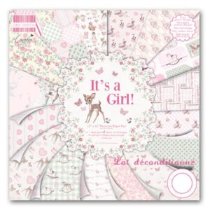 """First Edition Paper – Collection """"It's a Girl"""" 12×12″"""