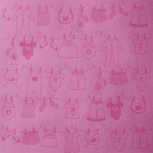 "Cardstock embossé ""Clothesline Girl"""