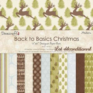 """Dovecraft – Back to Basics """"Christmas Modern"""" 12 feuilles"""