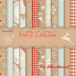 "Dovecraft – Collection ""Krafty Christmas"" 12 feuilles"