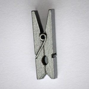 Pinces à Linges en Bois, 3.5×0.7cm Argent
