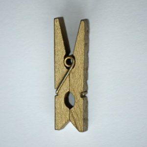 Pinces à Linges en Bois, 3.5×0.7cm Or