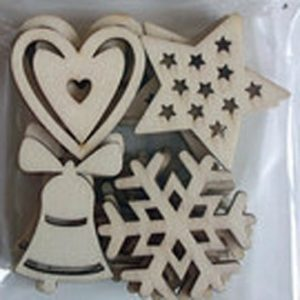 """Dovecraft – 4 formes en bois Collection """"12 days of Christmas"""""""