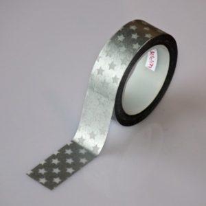 Masking Tape Silver Stars