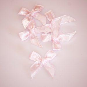 Noeud en satin 20mm – Lot de 5 – Soft pink