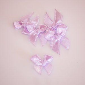 Noeud en satin 20mm – Lot de 5 – Lavender