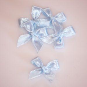 Noeud en satin 20mm – Lot de 5 – Soft blue