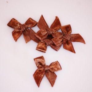 Noeud en satin 20mm – Lot de 5 – Brown