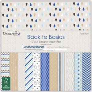 Dovecraft Back to Basics – True Blue 12 feuilles