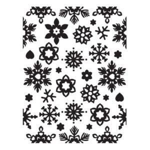 Ultimate Crafts Embossing Folder – Winter Chill