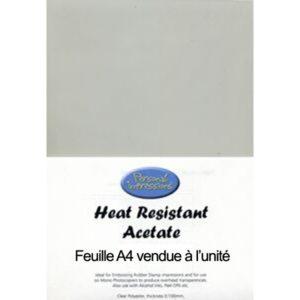 Feuille Acetate heat resistant A4